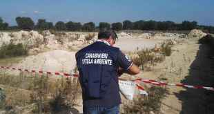 Manduria- Sequestrata area abusiva di rifiuti speciali
