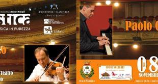 Manduria, il Primo Violino della Scalaapre la 'Lustrum Edition' di Acustical'8 novembre al Museo del Primitivo,Francesco Manara (violino) e Paolo Cuccaro (pianoforte)