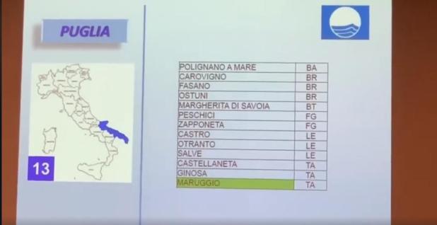 Maruggio, Acqua Dolce tra i 183 lidi con Bandiera Blu 2019