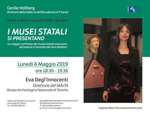 Il MArTA e il suo direttore Eva Degl'Innocenti  ospiti della Galleria dell'Accademia di Firenze