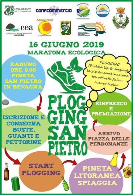 Domani domenica 16 giugno, plogging a San Pietro in Bevagna