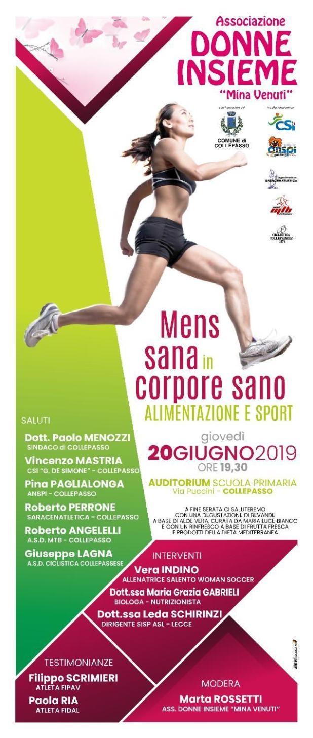 Mens sana in corpore sano – Alimentazione e sport