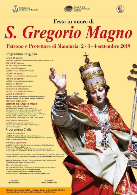 A Manduria al via i festeggiamenti per San Gregorio Magno