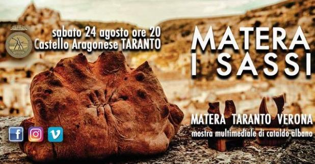 """Dal 24 agosto al 1° settembre 2019 la Mostra fotografica di Cataldo Albano """"MATERA I SASSI"""", che illuminerà successivamente la città di Verona"""
