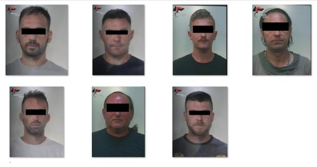 """Operazione """"Fures"""", armi e stupefacenti 7 arresti e 2 ricercati"""