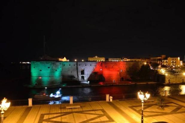 Castello Aragonese di Taranto sarà illuminato di tricolore