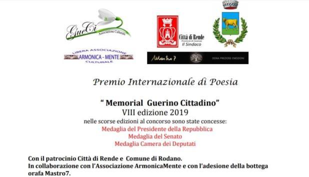 """Menzione d'onore alla poetessa Ma Raja all'8° Edizione del Premio Internazionale di Poesia """"Memorial Guerino Cittadino"""""""