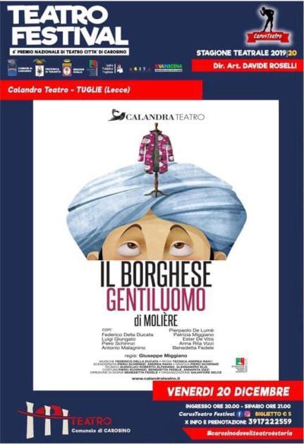 Teatro Festival – Terza serata a Carosino con la Calandra di Tuglie (Lecee)