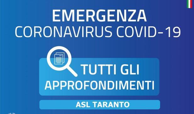 Taranto, 01 maggio 2020 – Aggiornamento pazienti Covid e post Covid ricoverati