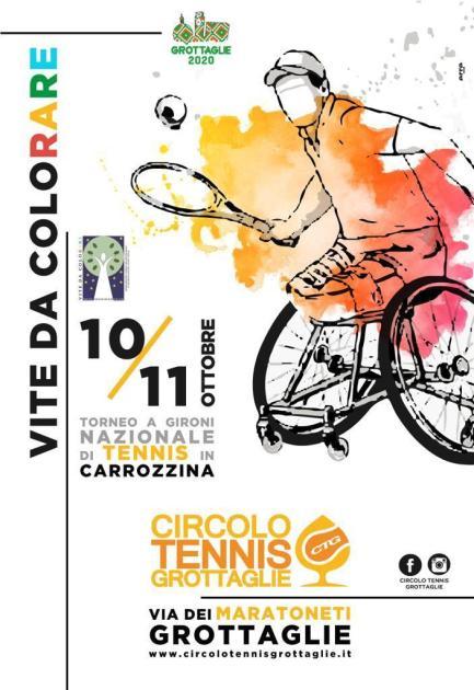 10 e 11 ottobre, torneo nazionale di tennis in carrozzina Grottaglie 2020