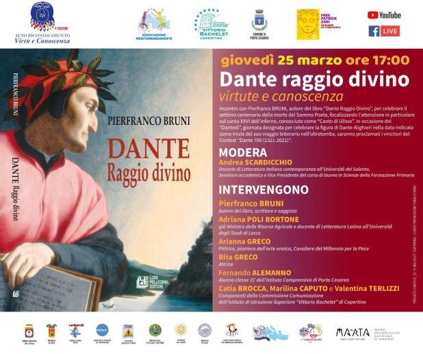 Giovedì 25 marzo giornata Dantedì a Porto Cesario con Pierfranco Bruni