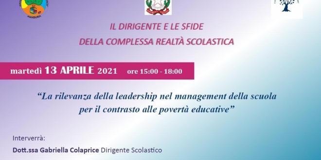 """III appuntamento del Corso formativo: """"Il Dirigente e le sfide della complessa realtà scolastica"""""""