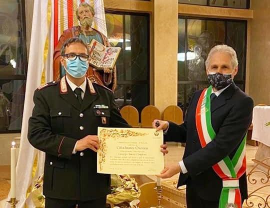 Torricella - Cittadinanza Onoraria al Luogotenente dei Carabinieri Giuseppe Simone Coniglione