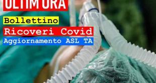 ASL TARANTO - 09 maggio 2021 – Aggiornamento ricoveri per Covid