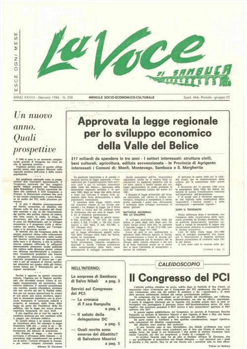 ANTEPRIMA N.250 Gennaio 1986