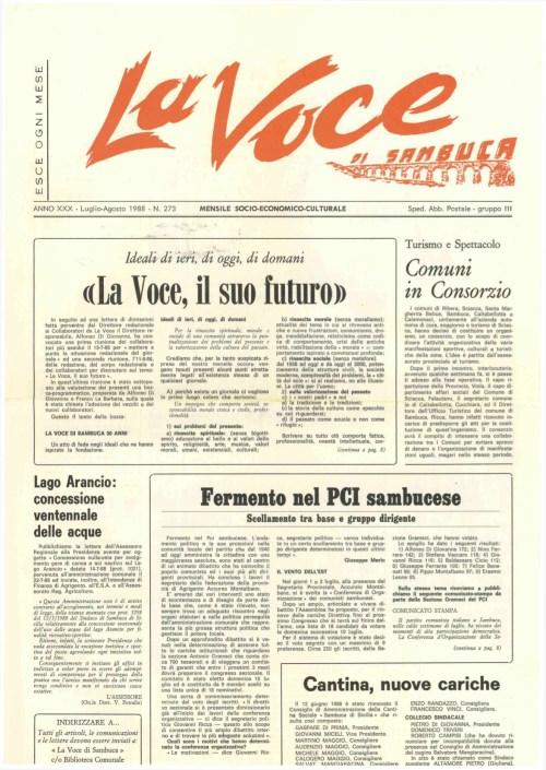 ANTEPRIMA N.273 Luglio Agosto 1988