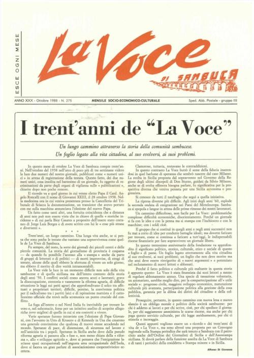 ANTEPRIMA N.275 Ottobre 1988