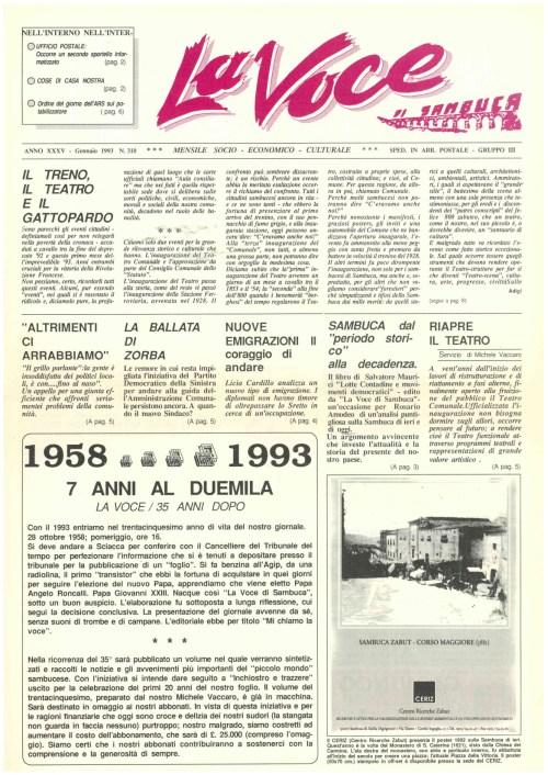 ANTEPRIMA N.310 Gennaio 1993