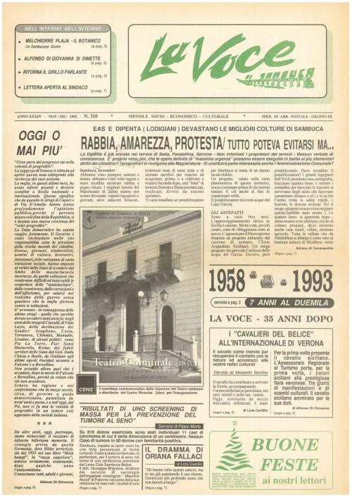 ANTEPRIMA N.310 Novembre Dicembre 1992