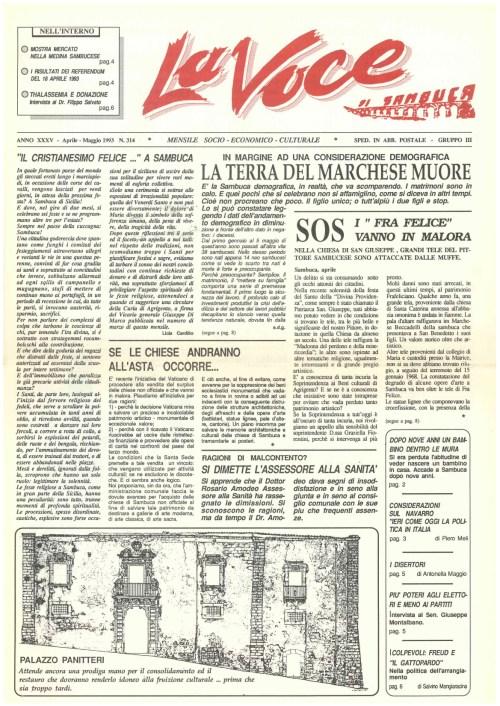 ANTEPRIMA N.314 Aprile Maggio 1993