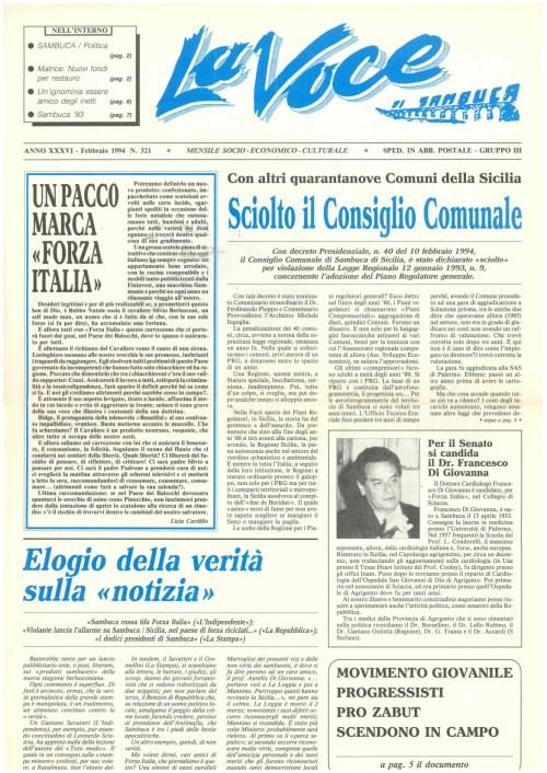 ANTEPRIMA N.321 Febbraio 1994