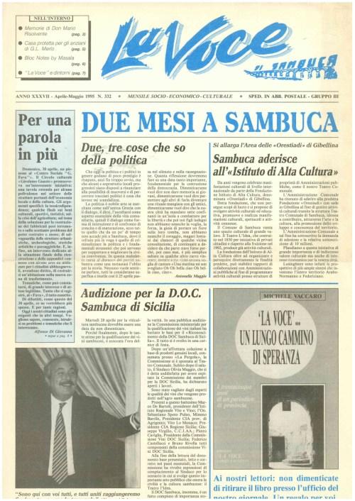 ANTEPRIMA N.332 Aprile Maggio 1995