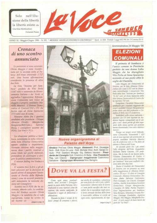 ANTEPRIMA N.352 Maggio Giugno 1998