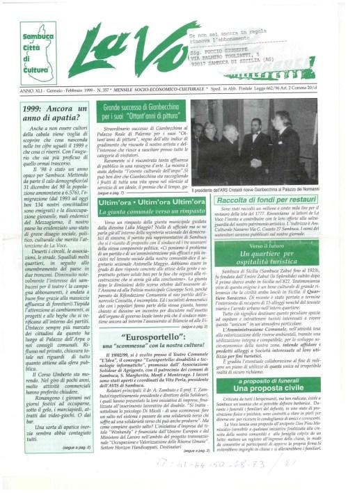 ANTEPRIMA N.357 Gennaio Febbraio 1999