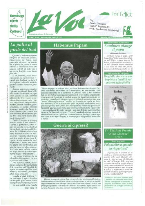 ANTEPRIMA N.397 Marzo Aprile 2005
