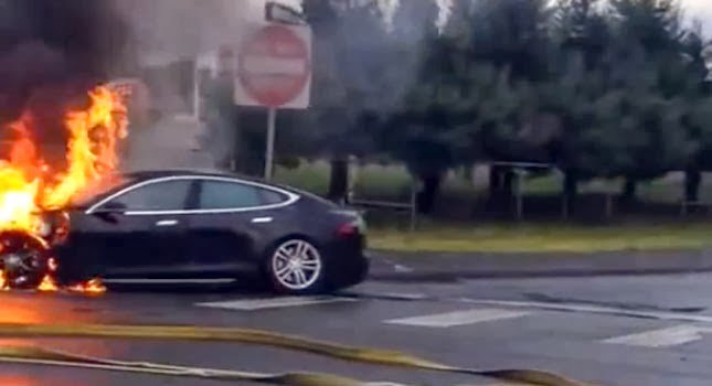Tesla-Model-S-on-fire