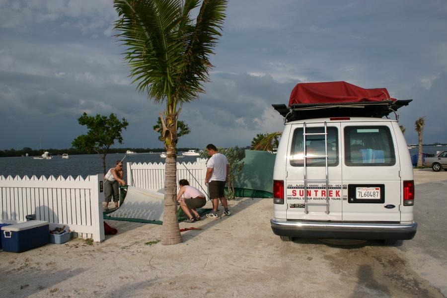 setup Boyd campground - Key West