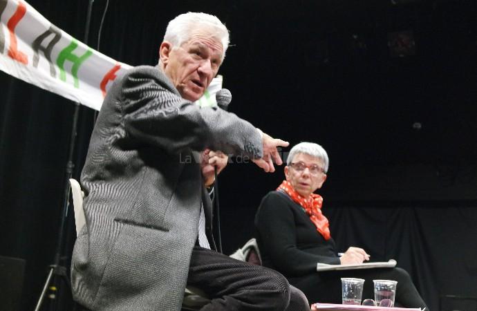 Jean-Claude Lefort, député honoraire et beau-père de Salah Hamouri, le 6 décembre à Bourg. © @Grégoire Nartz