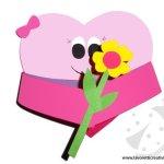 Lavoretto cuore animato con fiore