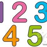 Sagome numeri – 1 2 3 4 5