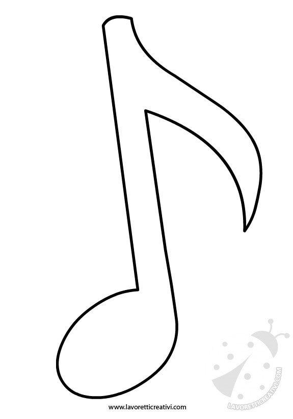 Sagome note musicali lavoretti creativi - Immagini violino a colori ...