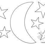 Luna e stelle: sagome