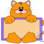 Targhetta per porta – Gatto