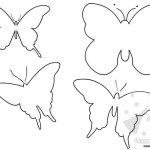 Sagome farfalle da stampare