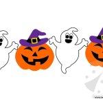 Festone di Halloween con fantasmini e zucche