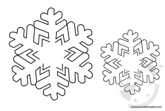 Sagome fiocchi di neve per decorazioni - Decorazioni natalizie da ritagliare ...