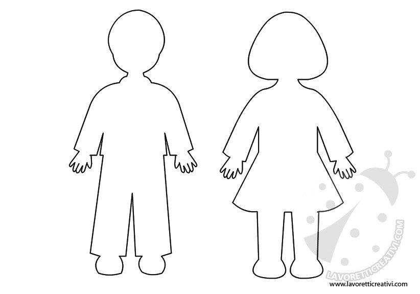 Eccezionale Sagome di bambini da ritagliare WD57