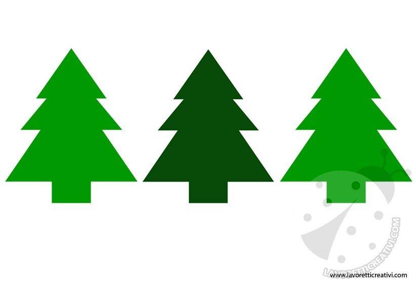 Festone con alberi di natale for Alberi di natale da colorare e ritagliare