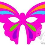 Maschera Farfalla da ritagliare