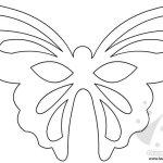 Maschera Farfalla: sagoma