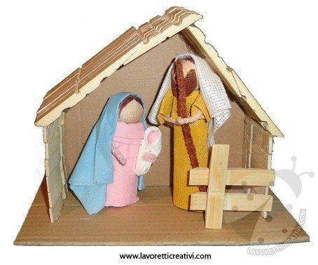 Lavoretti Natale Presepe con mollette
