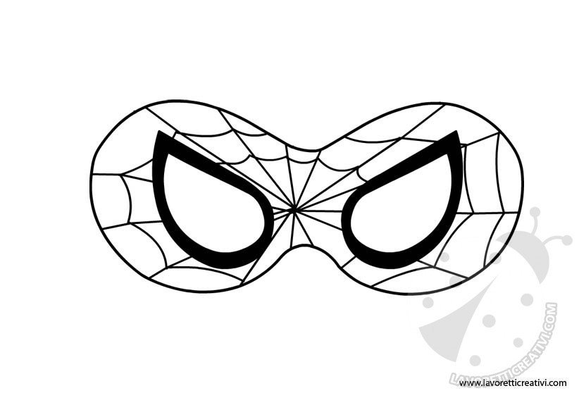 spiderman mask outline spiderman mask template invitation templates