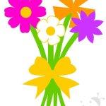 Lavoretti Festa della Mamma – Mazzo di fiori