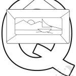 Alfabeto con disegni – Lettera Q