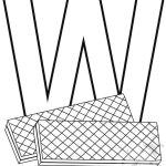 Alfabeto con disegni – Lettera W