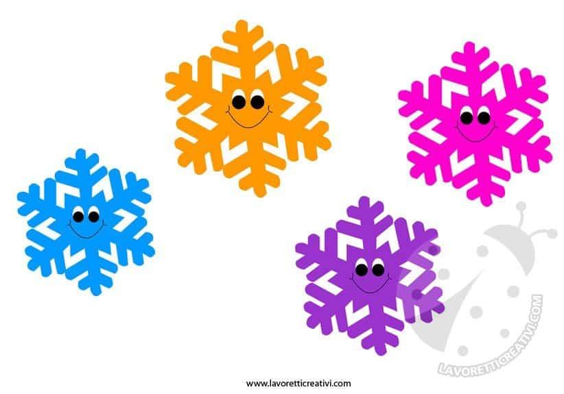 Addobbi invernali fiocchi di neve da ritagliare for Addobbi inverno scuola dell infanzia
